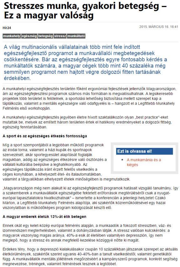 Stresszes munka, gyakori betegség - Ez a magyar valóság